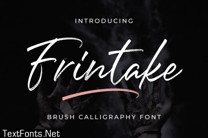 Frintake - Brush Calligraphy Font T6F3UN3
