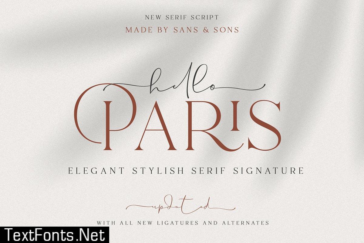 Hello Paris | Modern Paired Duo