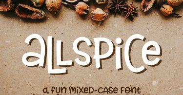 Allspice a fun mixed-case font 1231526