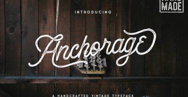 Anchorage - Vintage Script Typeface 1073848