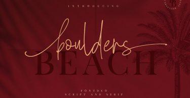 Boulders Beach Duo Font