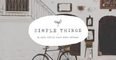 Simple Things - cute little font 1934415