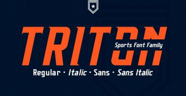 Triton Sports Font Family