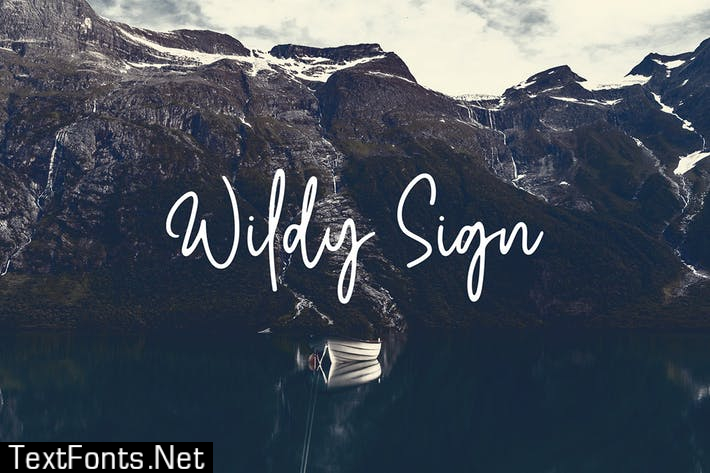 Wildy Sign Font