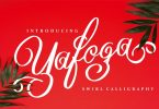 Yafoga - Swirl Calligraphy