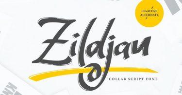Zildjan   Script Brush Font