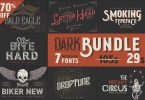 Dark Bundle: 7 Bestseller Fonts 956263