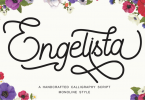 Engelista - Handcrafted Calligraphy Script Font