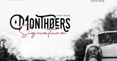 Monthoers Typeface 370467