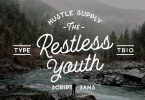 The Restless Youth - Font Bundle 605360