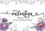 Valentina - Calligraphy Typeface