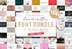 154 IN 1 FONT BUNDLE WHOLE SHOP 4326272