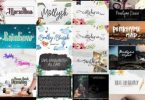 25 Gorgeous Calligraphy Fonts Collection