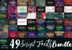 49 Script Fonts Bundle 4552947