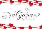 Alyana Script Font - [code FH]