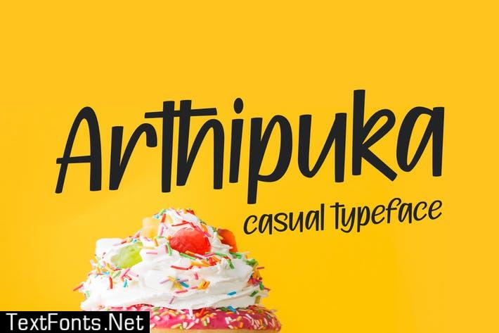 Arthipuka - Casual & Fun Typeface