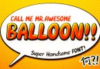 Awesome Balloon Font