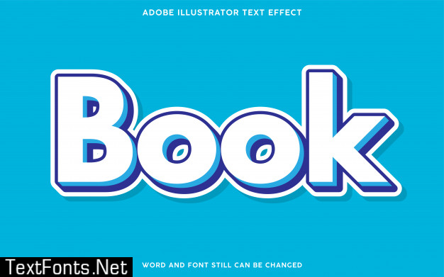 Book text effect with white color
