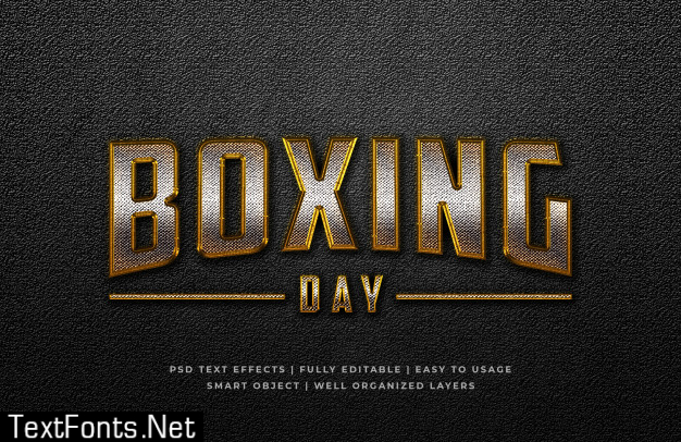 Boxing day 3d text style effect