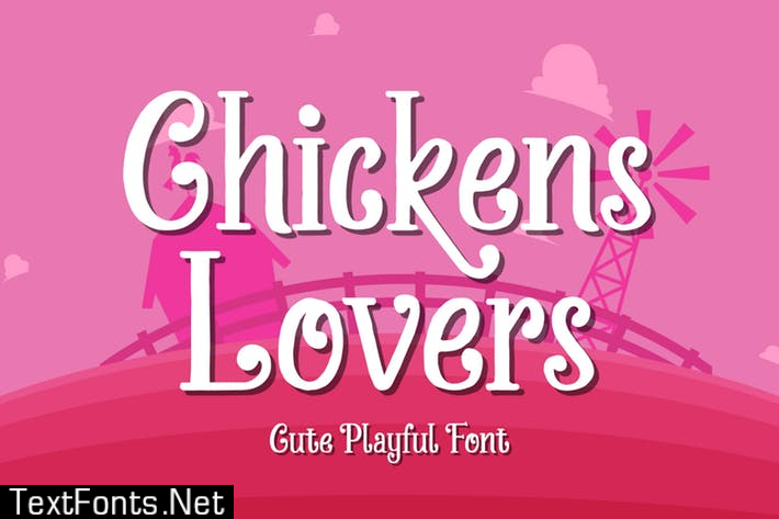 Chickens Lovers - Cute & Playful Display Font