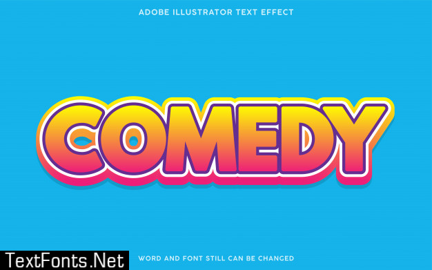 Comedy gradient text effect