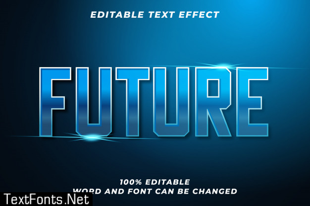 Future text style effect