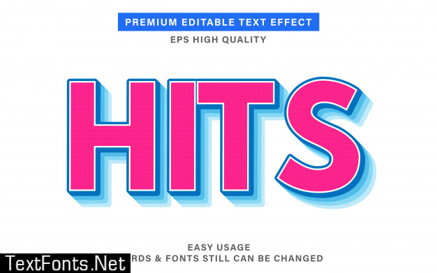 Hits text effect