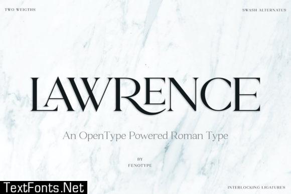 Lawrence Font
