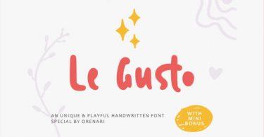 Le Gusto Font