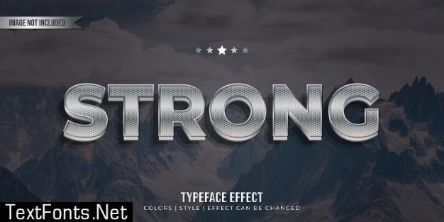 Modern typeface text effect
