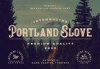 Portland Slove - Vintage Decorative Font
