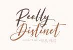 Really Distinct Font