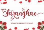 Saranghae - Lovely Calligraphy Font