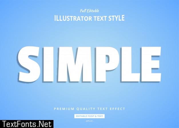 Simple white text style effect
