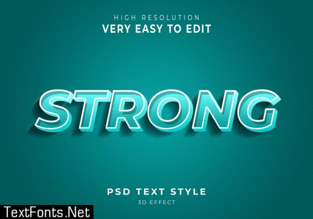 Strong modern text effect
