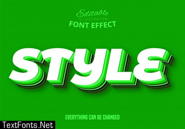 Style text, editable text style