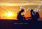 Sun Brush Font