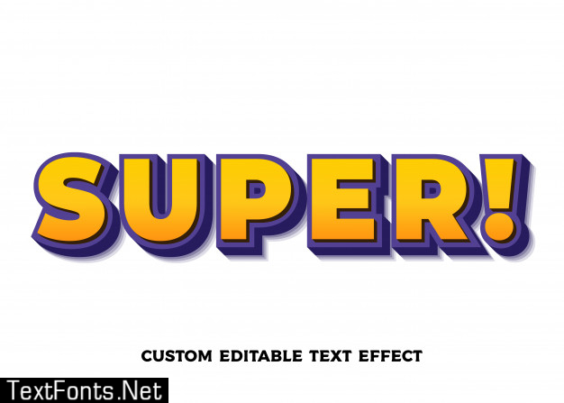 Super orange text effect. editable font style