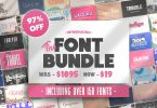 The HUGE Font Bundle (162 Fonts) 4140013