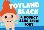 Toyland Black Font