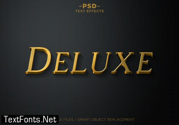 3d deluxe gold style 2 effects template text