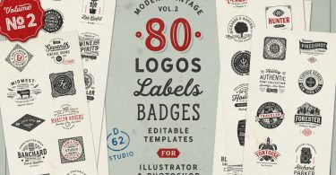 80 Modern Vintage Logos vol. 4 2425840