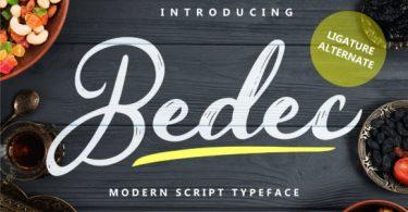 Bedec Font