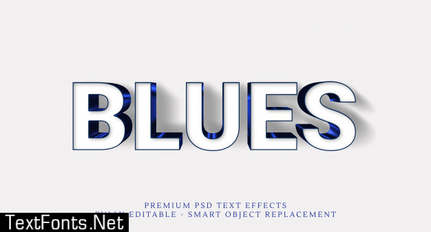Blue text style effect