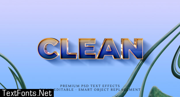 Clean text style effect , premium text effects