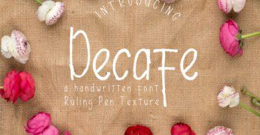 Decafe Font
