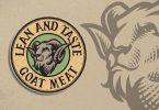 Goat Meat Engraving Logo Template UQT67PL