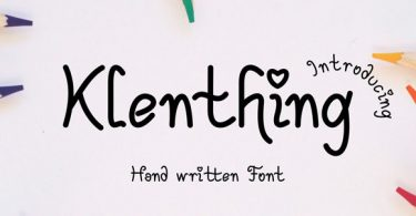 Klenthing Font