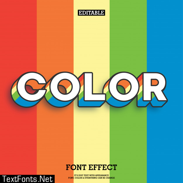 Rainbow color text style with colorful background