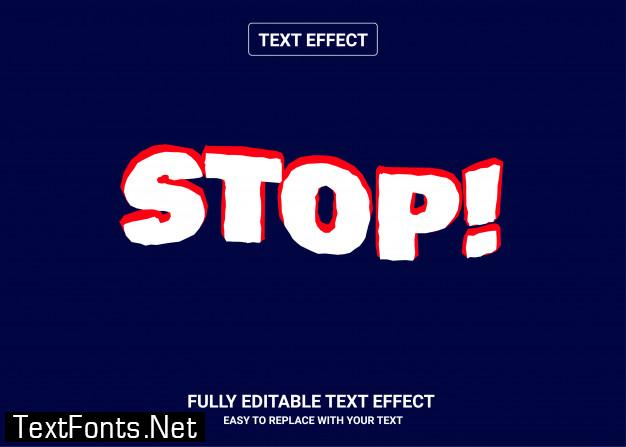 Stop editable text style effect